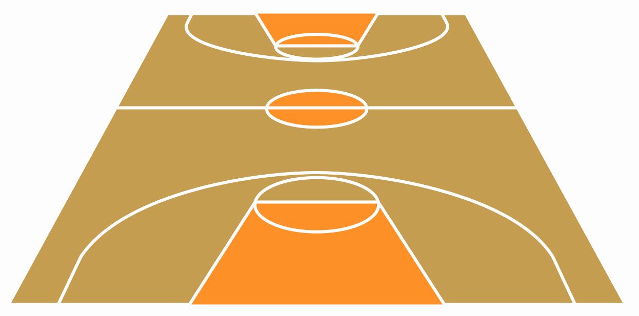 Basketball Court Design Template Fresh Basketball Field In the Vector