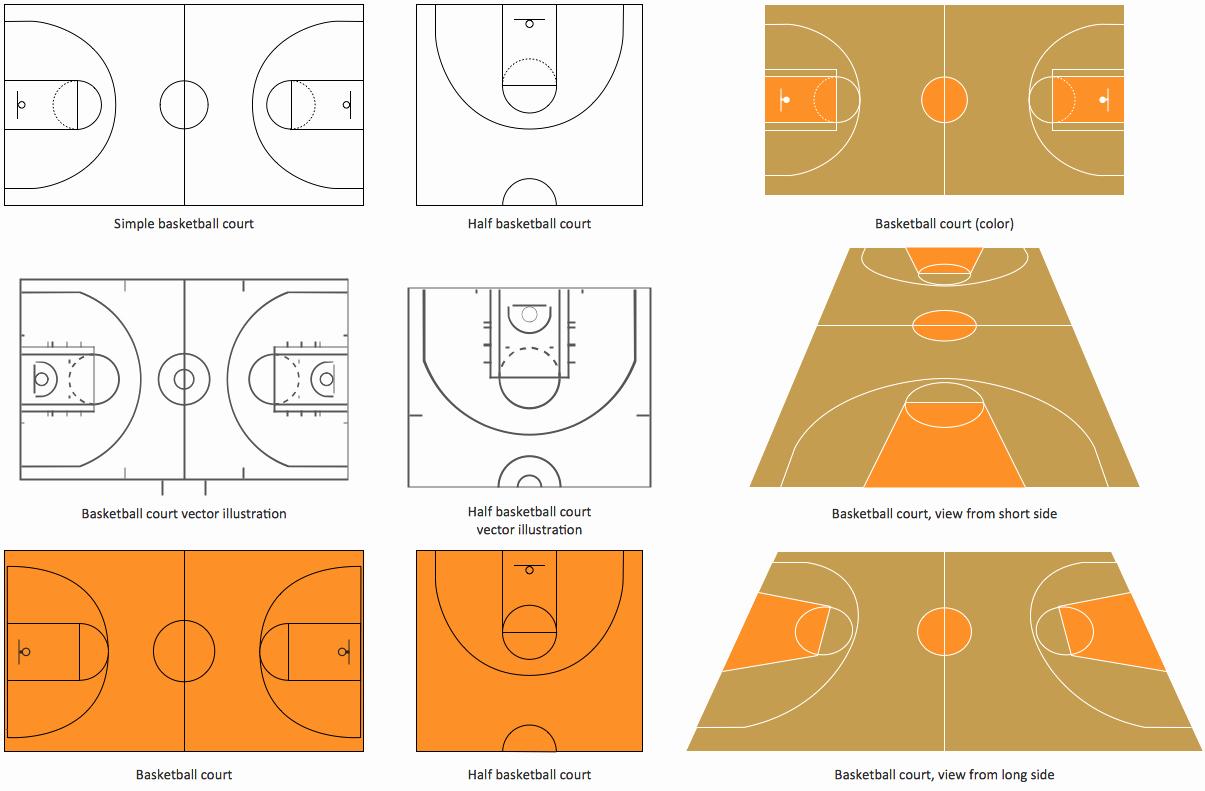 Basketball Court Design Template Inspirational Basketball Court Dimensions
