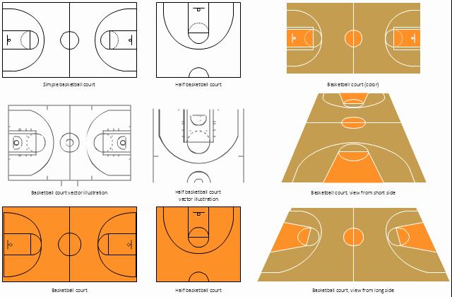 Basketball Court Design Template Lovely Basketball Court Diagram and Basketball Positions