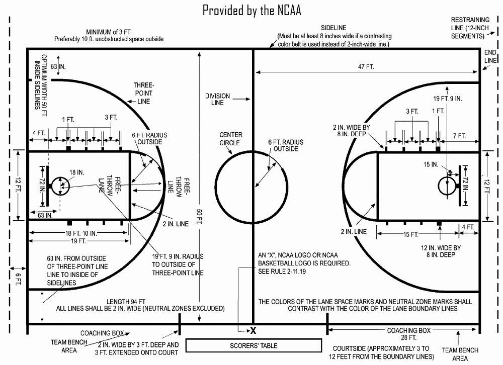 Basketball Court Design Template Lovely Basketball Court Diagrams Printable