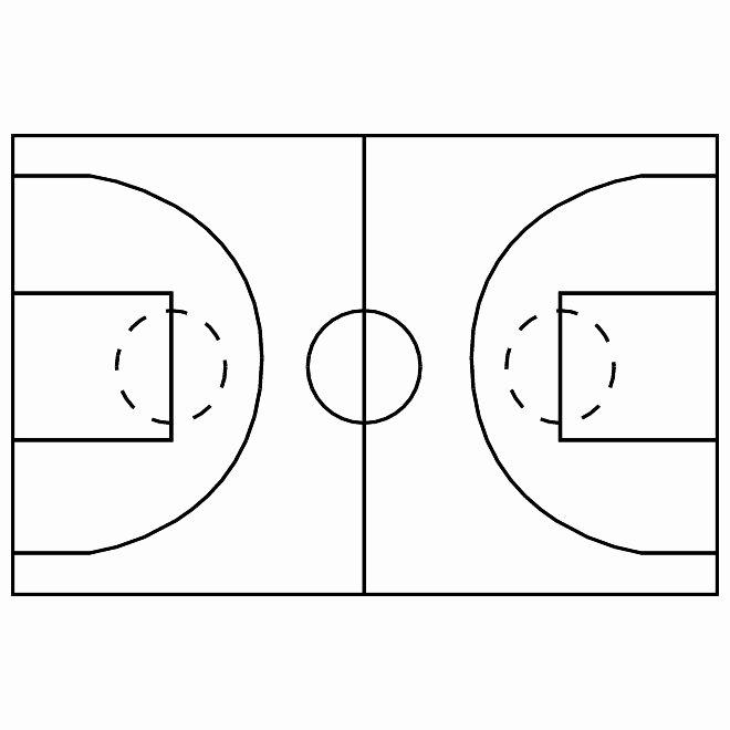 Basketball Court Design Template New Best S Of Basketball Court Template In Word Half