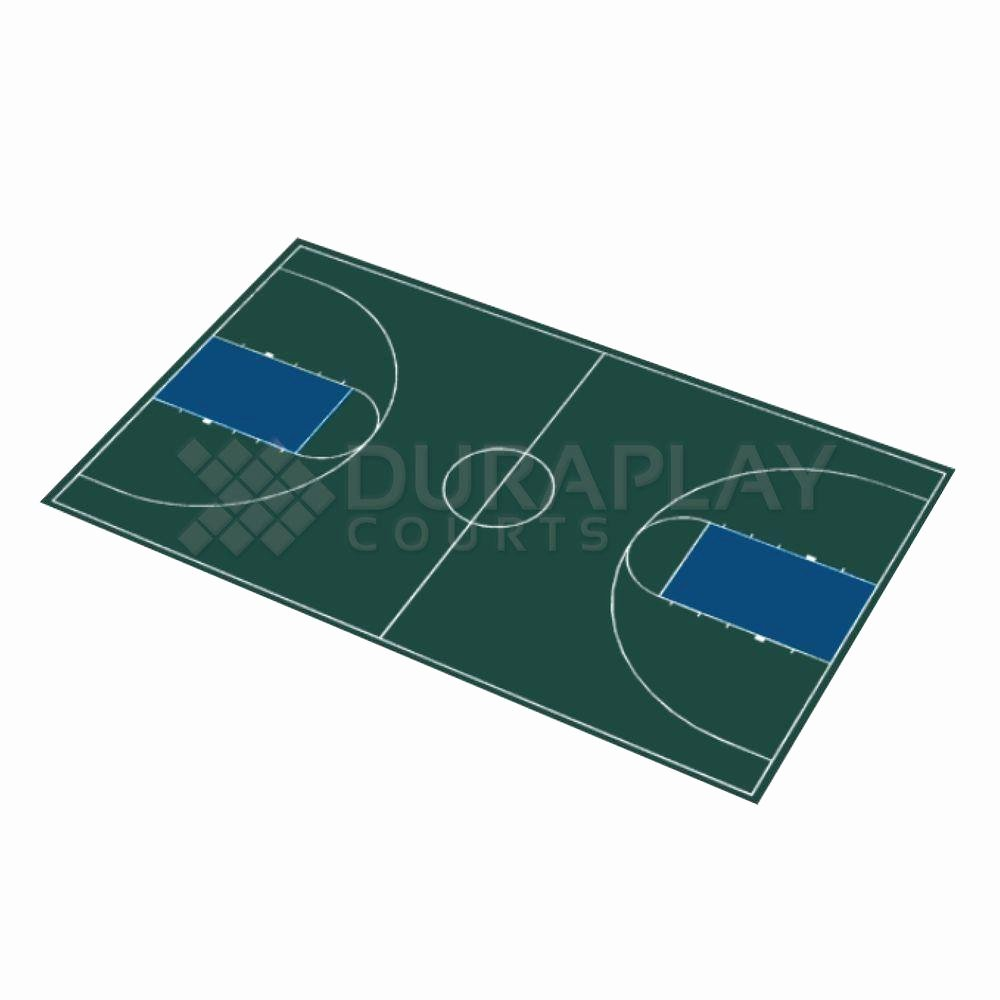 Basketball Half Court Rug Awesome Duraplay 50 Ft 6 In X 83 Ft 11 In Hunter Green and