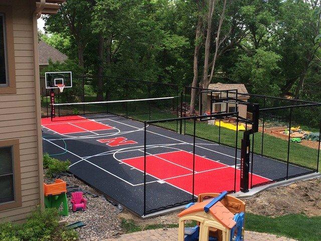 Basketball Half Court Rug Awesome Snapsports Backyard Multi Game Court Huskers theme