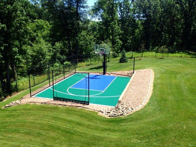 Basketball Half Court Rug Awesome Snapsports Small Backyard Home Basketball Court