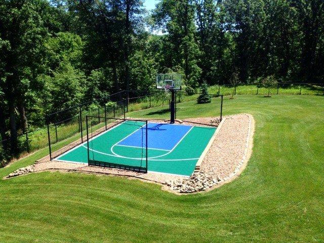 Basketball Half Court Rug Awesome Snapsports Small Backyard Home Basketball Court