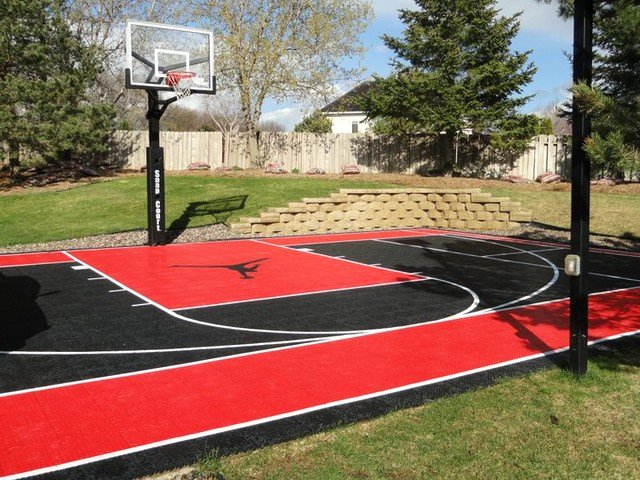 Basketball Half Court Rug Luxury Custom Snapsports Backyard Basketball Game Court