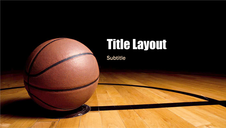 Basketball Powerpoint Template Awesome Basketball Presentation Widescreen