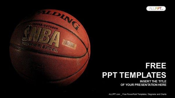 Basketball Powerpoint Template Beautiful A Basketball with A Dark Background Powerpoint Templates