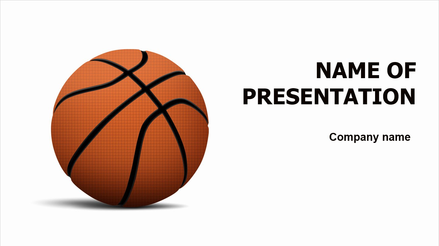 Basketball Powerpoint Template Beautiful Download Free Basketball Powerpoint Template for Presentation