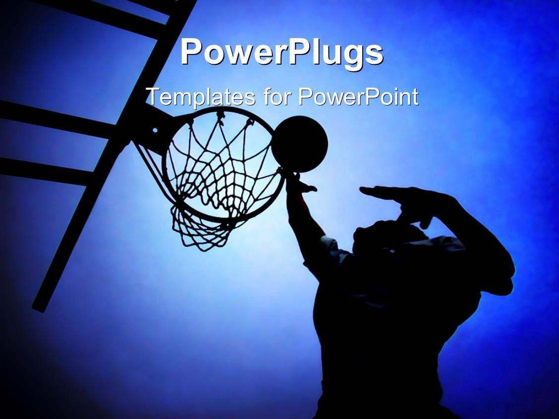 Basketball Powerpoint Template Beautiful Powerpoint Template Silhouette Of Basketball Player In