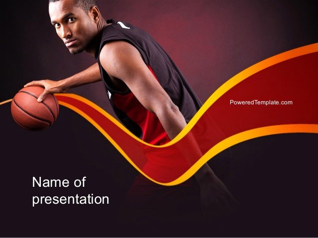 Basketball Powerpoint Template Luxury Basketball theme Powerpoint Template