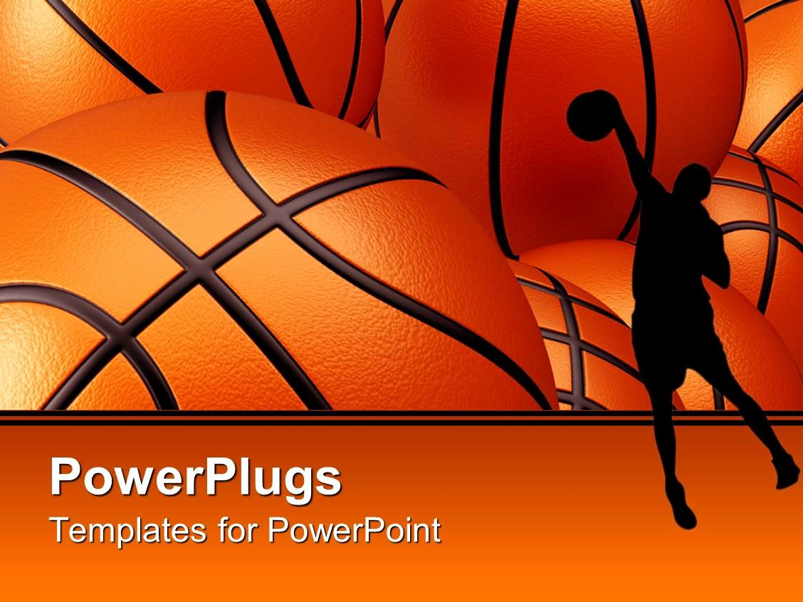 Basketball Powerpoint Template New Powerpoint Template Basketball Player Shadow Against