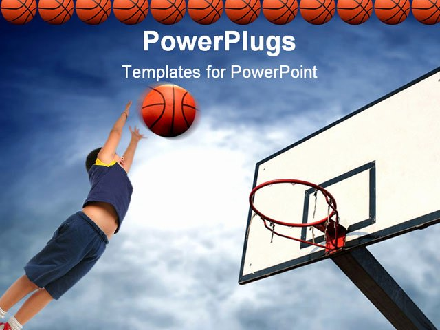Basketball Powerpoint Template Unique A Flaying Basketball Entering In the Basket Powerpoint