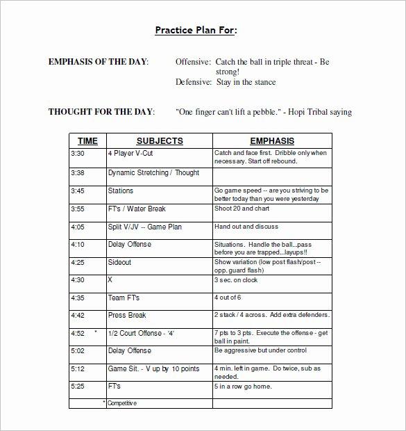 Basketball Practice Schedule Template Fresh 13 Practice Schedule Templates Word Excel Pdf