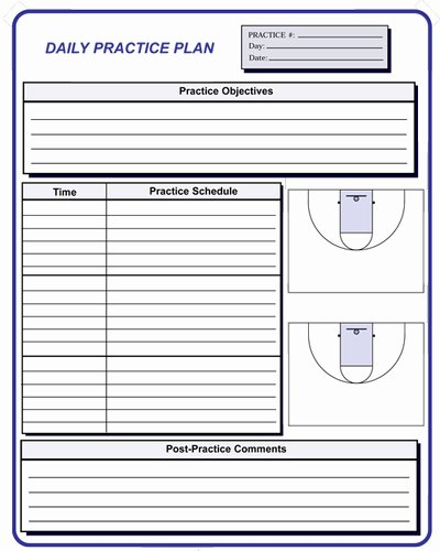 Basketball Practice Schedule Template Fresh Basketball Coaching forms
