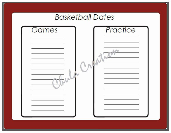 Basketball Schedule Template Elegant 8 Basketball Schedule Templates & Samples Doc Pdf Psd