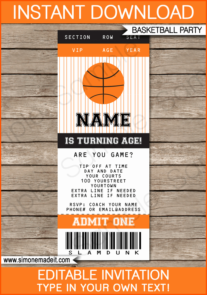 Basketball Ticket Invitation Template Free Awesome 10 Ticket Template for Mac