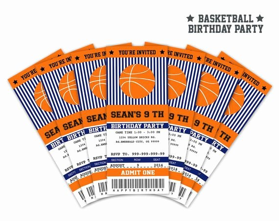 Basketball Ticket Invitation Template Free Beautiful 17 Best Images About Basketball Party On Pinterest