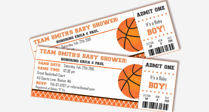 Basketball Ticket Invitation Template Free Inspirational 12 Basketball Ticket Invitation Card Designs & Templates