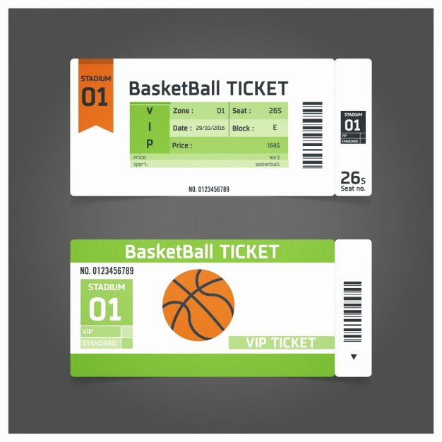 Basketball Ticket Invitation Template Free Inspirational Basketball Match Ticket Template Vector