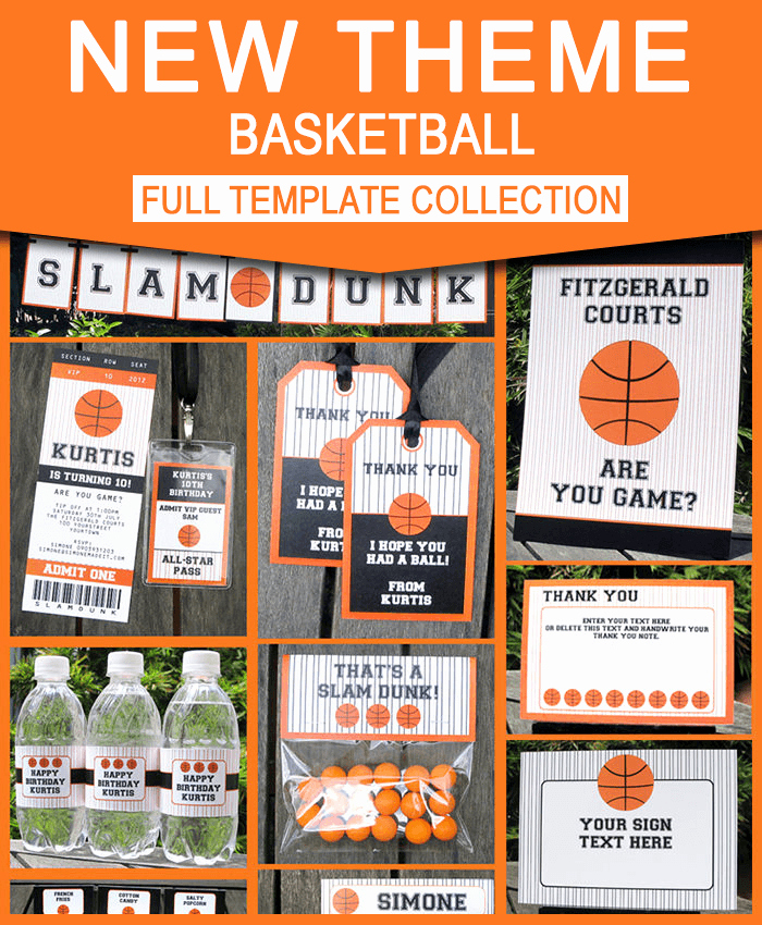 Basketball Ticket Invitation Template Free Inspirational Basketball Ticket Invitation & Printable Party Collection