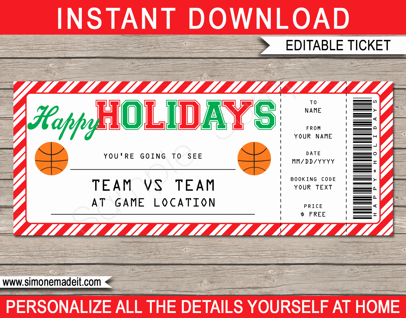 Basketball Ticket Template Best Of Basketball Gift Ticket