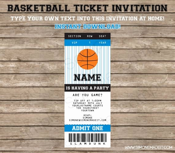 Basketball Ticket Template Luxury 10 Best Images About Basketball Invite On Pinterest