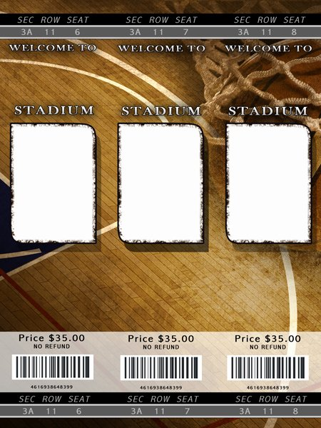 Basketball Ticket Template Luxury Basketball Templates
