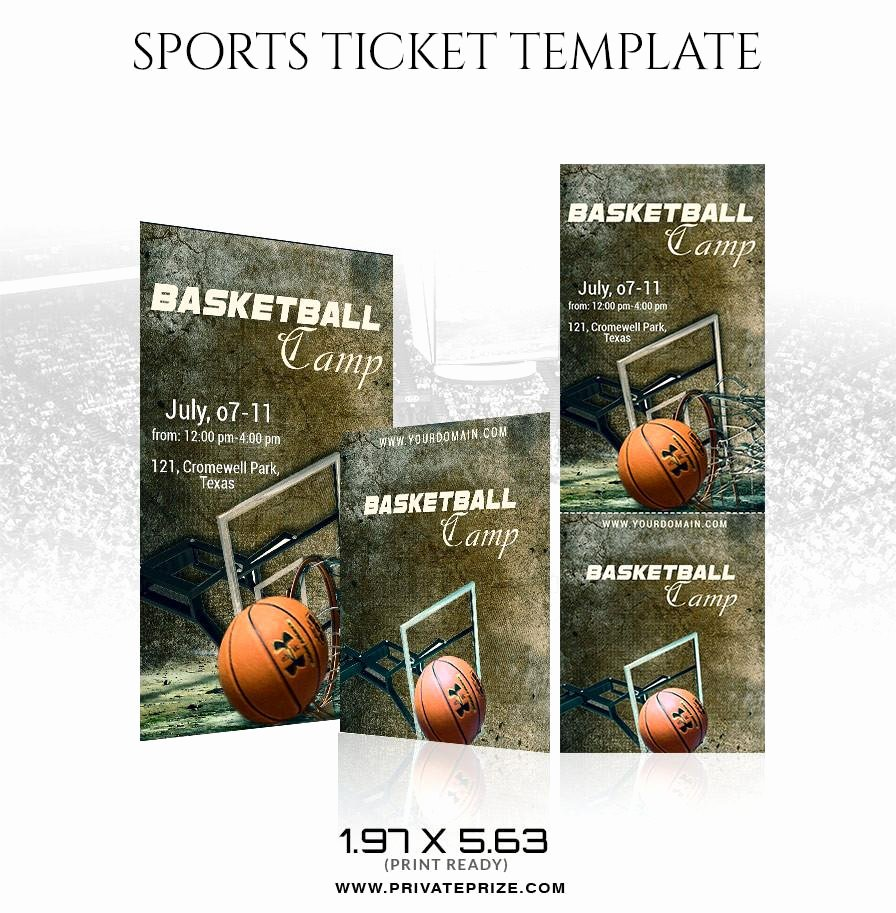 Basketball Ticket Template New Basketball Sports Ticket Template