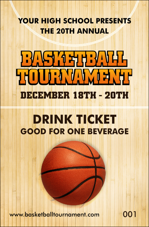 Basketball Ticket Template Unique Basketball Court Drink Ticket