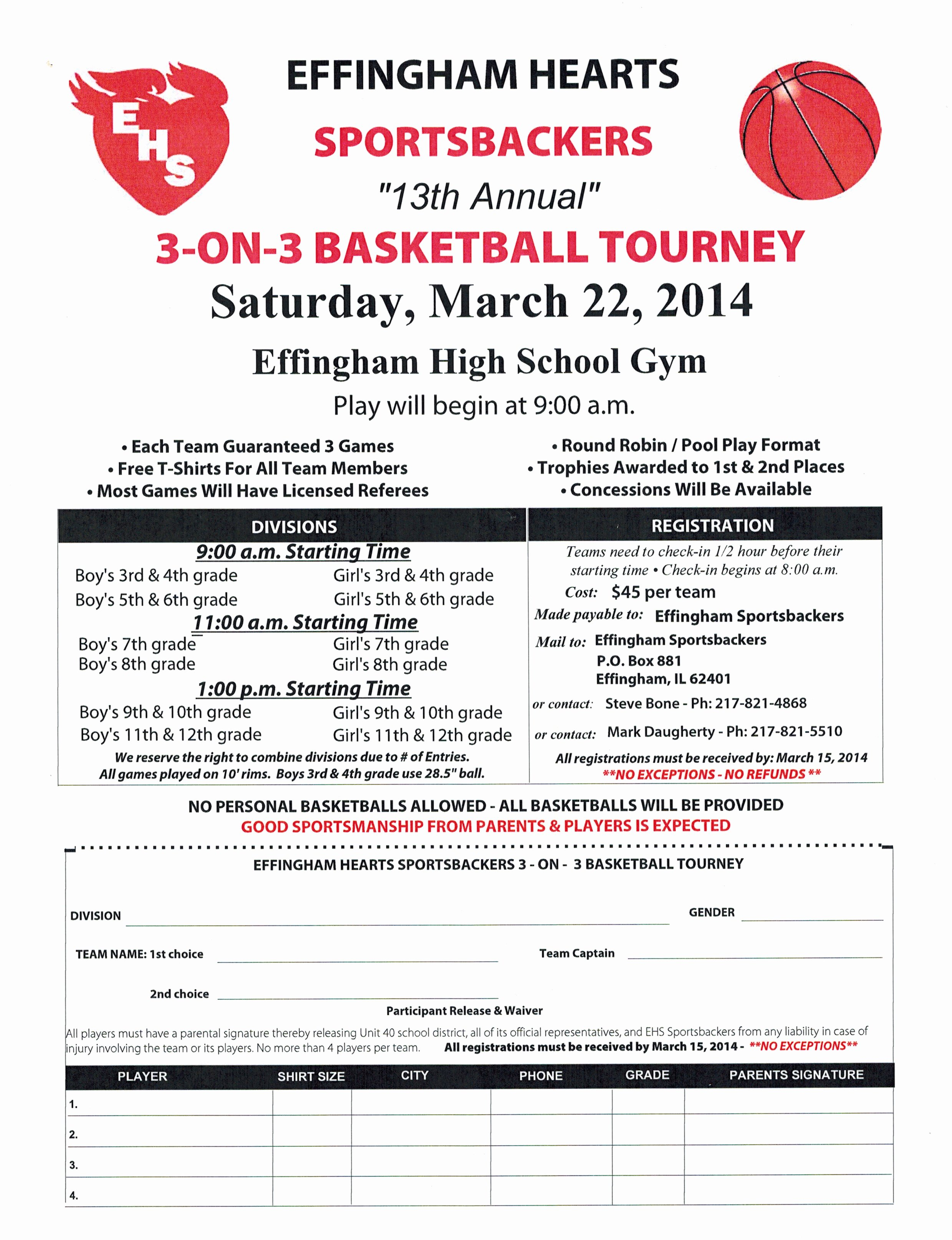 Basketball tournament Registration form Template Best Of Sportsbackers 3 On 3 Basketball tournament Scheduled