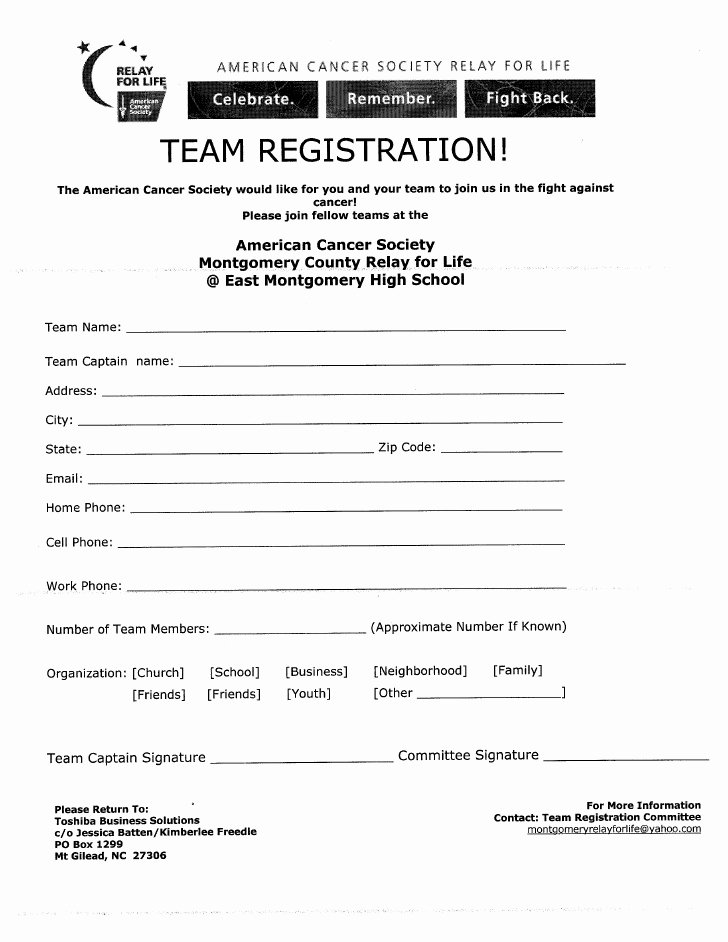 Basketball tournament Registration form Template Luxury Team Registration form