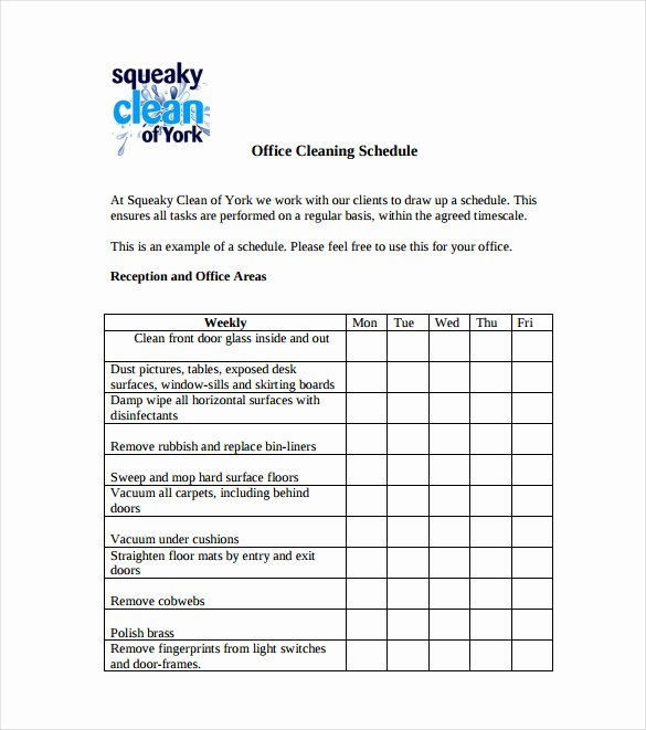 Bathroom Cleaning Checklist Template Awesome 20 Bathroom Cleaning Schedule Templates Pdf Doc