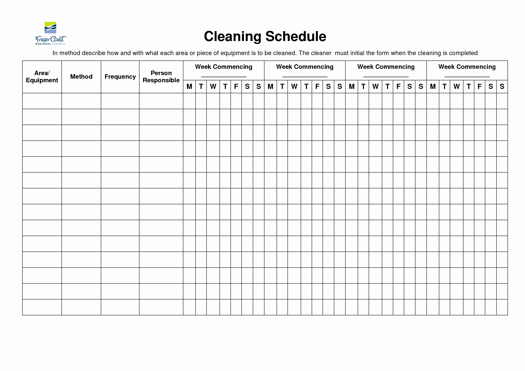 Bathroom Cleaning Checklist Template Awesome 8 Best Of Restroom Cleaning Schedule Printable