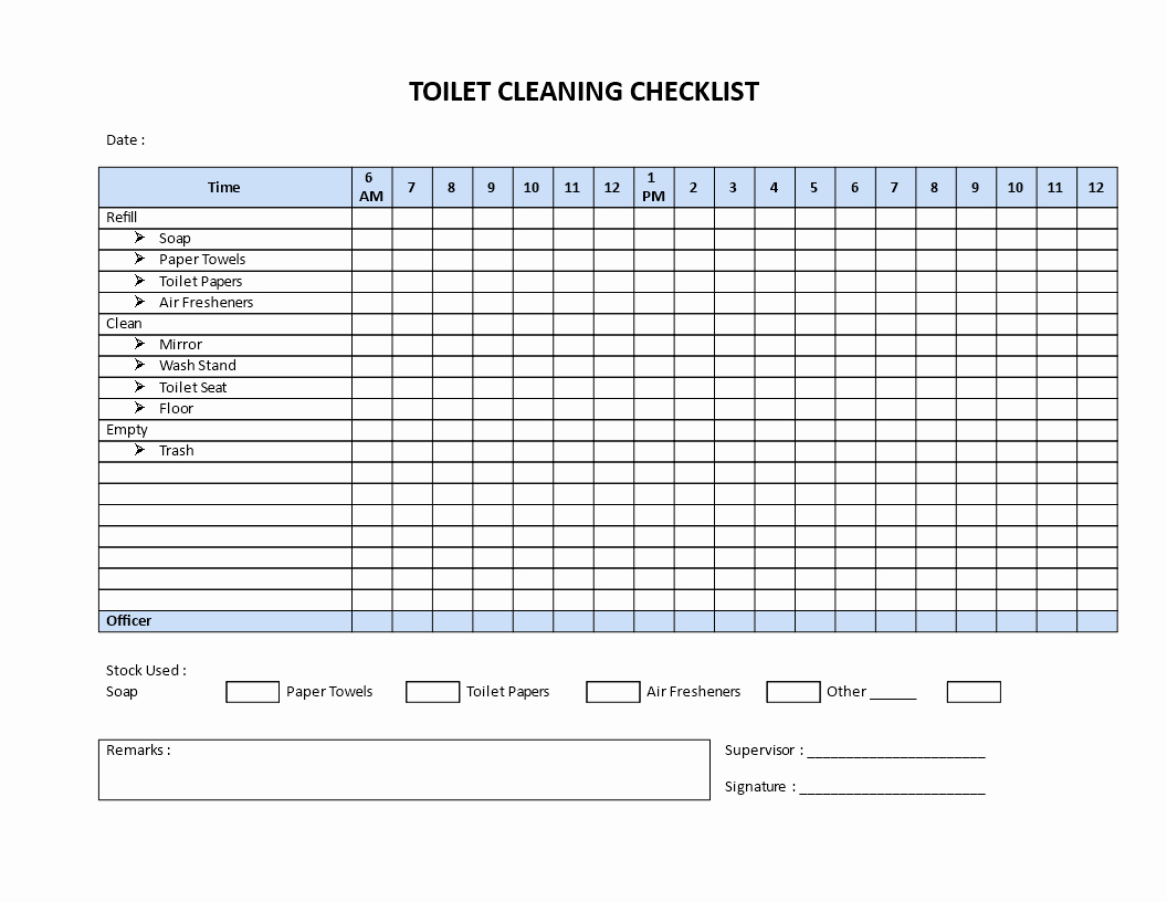 Bathroom Cleaning Checklist Template Beautiful Free Restroom Cleaning Checklist Model