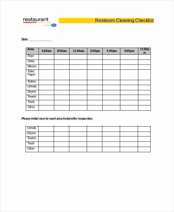 Bathroom Cleaning Checklist Template Lovely Cleaning Checklist 31 Word Pdf Psd Documents Download
