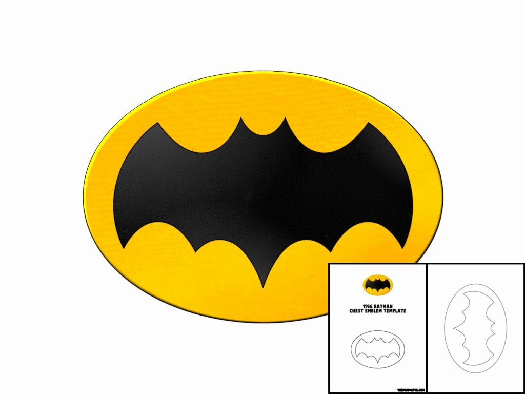 Batman Chest Emblem Beautiful Template for 1966 Batman Chest Emblem
