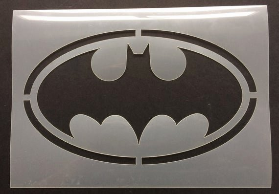Batman Logo Stencil Beautiful Batman Bat Logo Stencil 190 Micron Mylar
