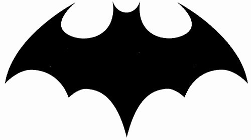 Batman Logo Stencil Best Of Batman Logo Stencil Clipart Library Clipart Library