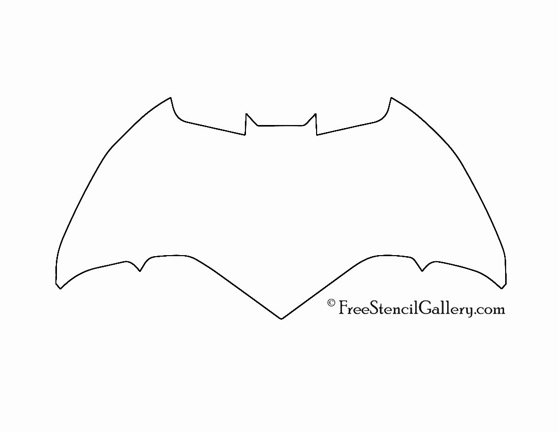 Batman Logo Stencil Luxury Batman Symbol Stencil 03