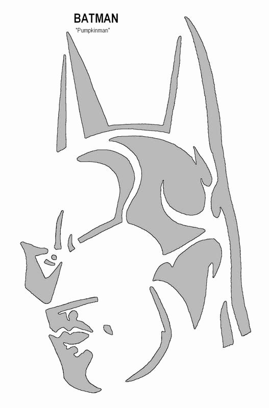 Batman Pumpkin Carving Stencils Awesome Batman Pumpkin Pattern Pumpkin Patterns