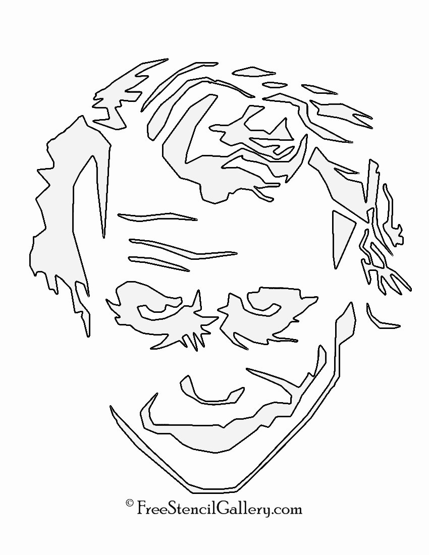 Batman Pumpkin Stencil Free Unique Joker Stencil 01