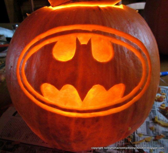 Batman Pumpkin Stencil Lovely Not by the Hair On My Chinny Chin Chin Hallowe En