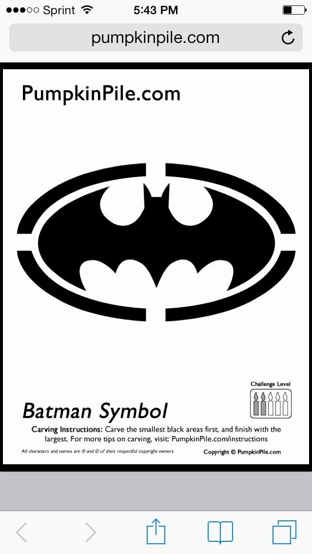 Batman Signal Template Awesome the 25 Best Batman Pumpkin Stencil Ideas On Pinterest