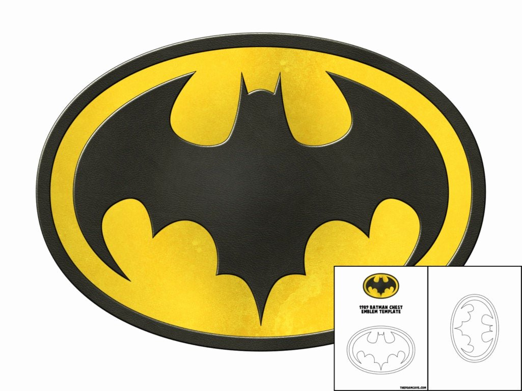Batman Signal Template Luxury Template for 1989 Batman Chest Emblem