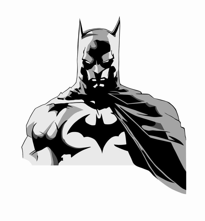 Batman Stencil Art Awesome Batman Colored by Larseliasnielsen On Clipart Library