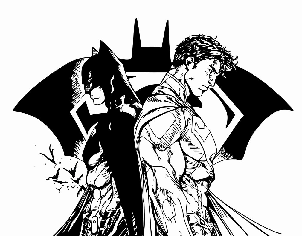 Batman Stencil Art Awesome Batman Vs Superman V2 Stencil Vector Art by Sartauzumaki