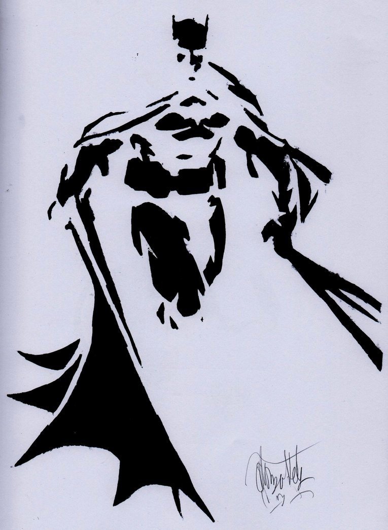 Batman Stencil Art Best Of Batman Stencil by Alonzohdz On Deviantart