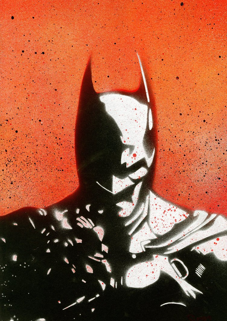 Batman Stencil Art Unique Batman Arkham origins Graffiti Stencil Poster by Simdoug