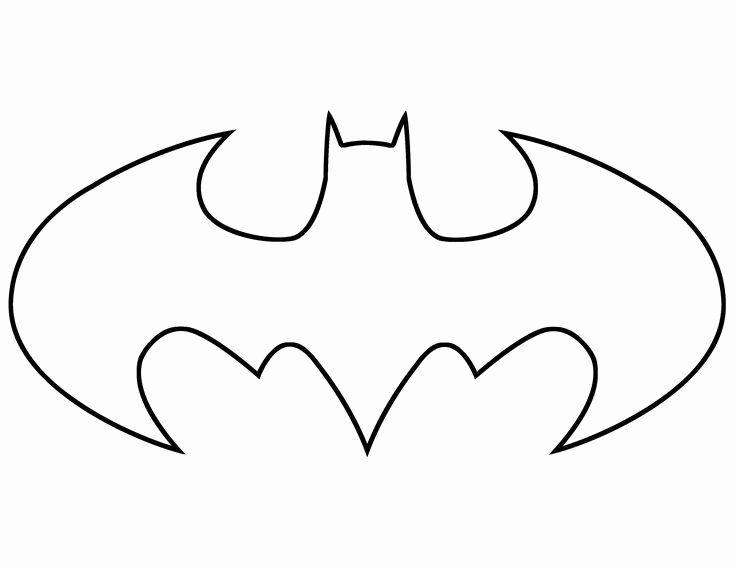 Batman Stencil Printable Beautiful Batman Stencils Free Batman Logo Stencil